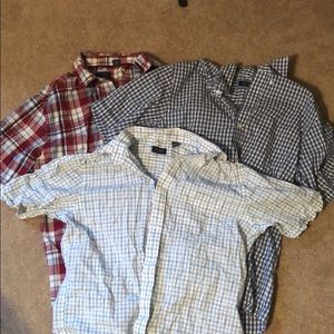 3 Arrow short sleeve slim fit small button downs